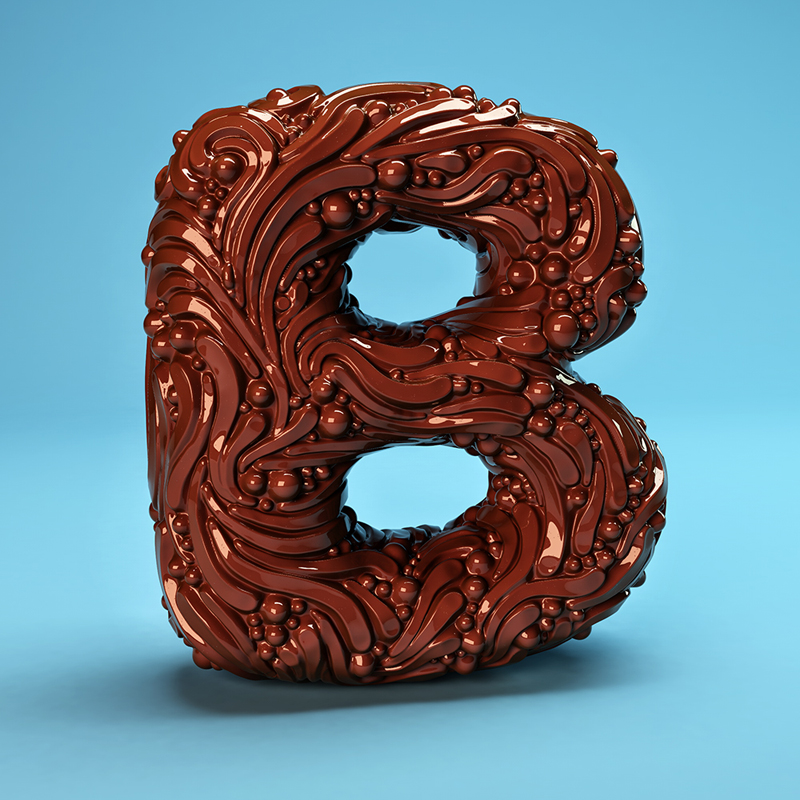 The Sculpted Alphabet by FOREAL in 60+ Examples of Creative Typography