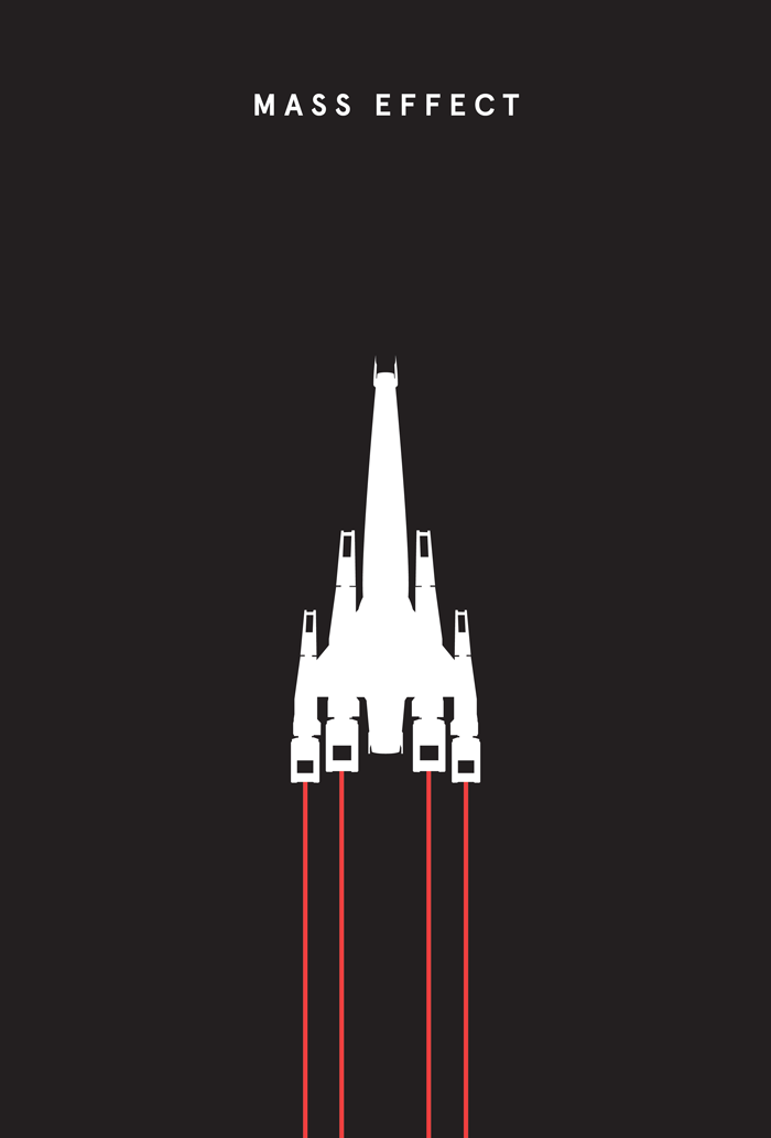 Minimalist Film & Video Game Posters by Francisco Cipriano in Showcase of Minimal Movie Posters #8