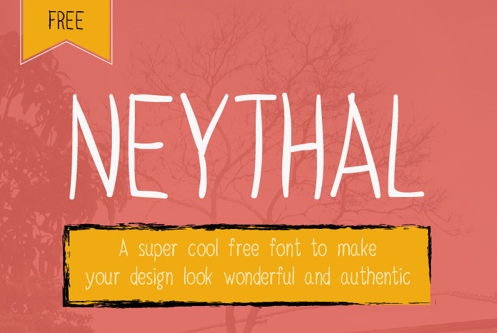 Neythal Free Font by Tharique Azeez in 25 Fresh and Free Fonts for July 2014
