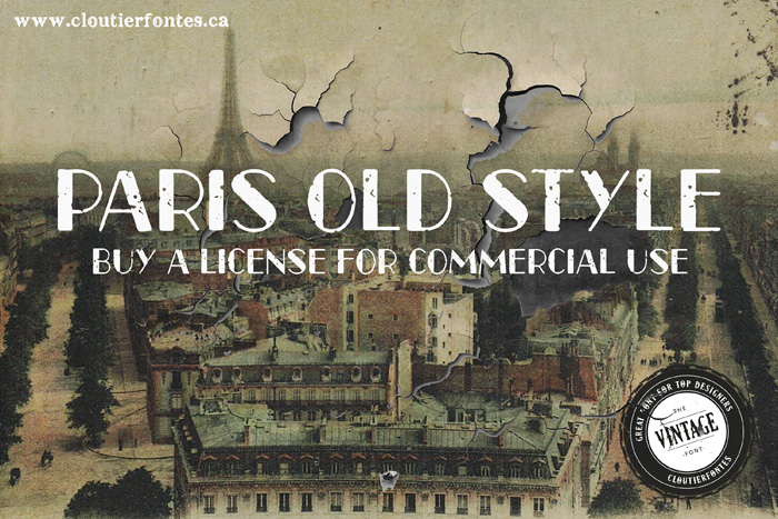 CF Paris Old Style by CloutierFontes in 25 Fresh and Free Fonts for July 2014