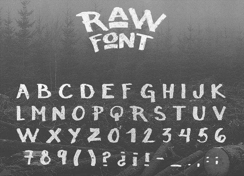 Raw Free Font by Noe Araujo in 25 Fresh and Free Fonts for July 2014
