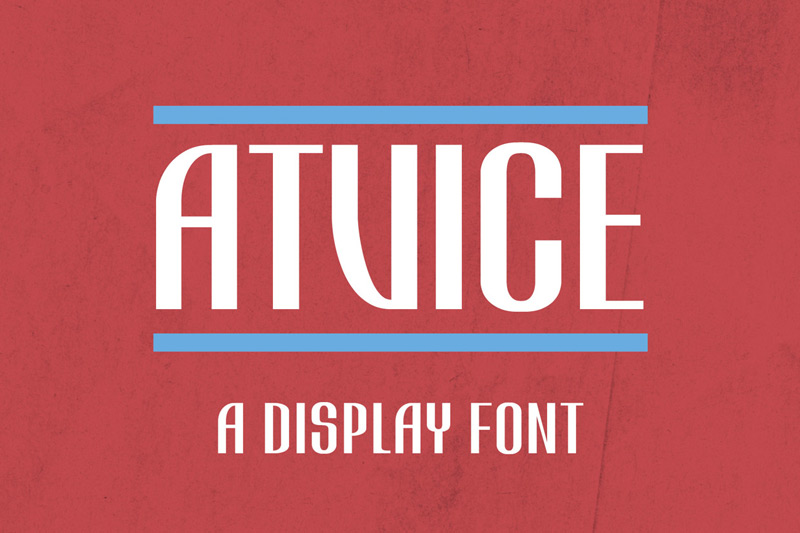 ATViCE Display Font by Philipp Rösler in 25 Fresh and Free Fonts for July 2014