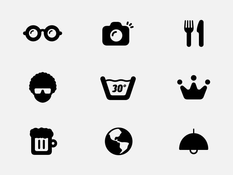 30 free icons by figurelab in 38 Fresh and Modern Icon Sets