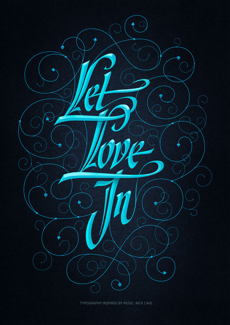 Let Love In by Alex Timokhovsky in 60+ Examples of Creative Typography