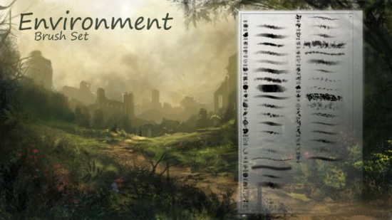 524 environment brushes 550x309 Awesome New Photoshop Brushes for Photo Manipulation   Vol.1