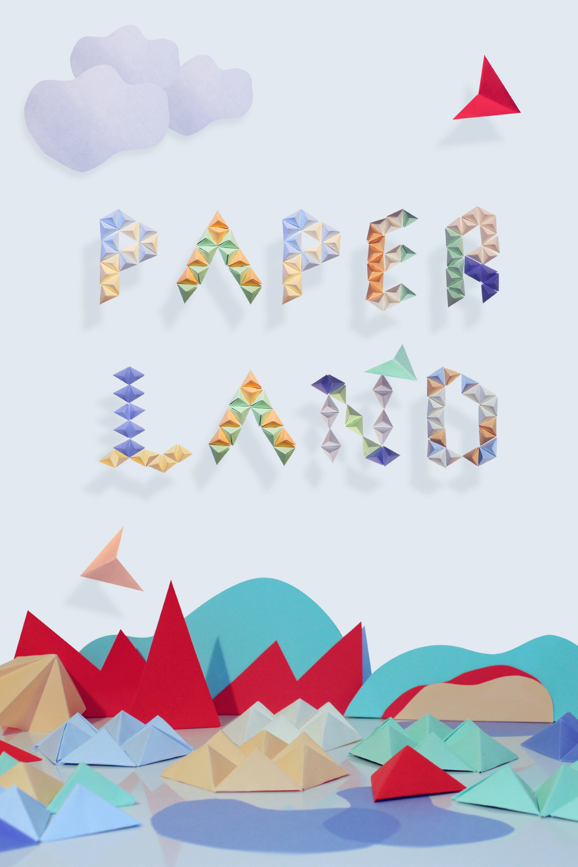 Paper land by Julie Jup in 60+ Examples of Creative Typography
