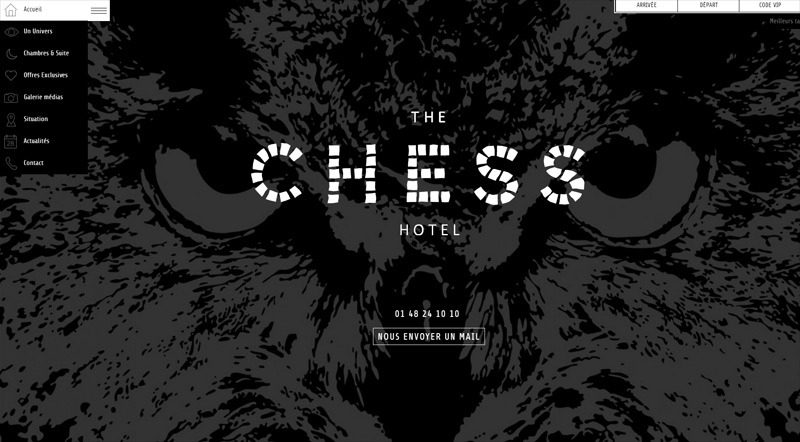 The Chess Hotel in  Web Design Inspirational Cocktail #93