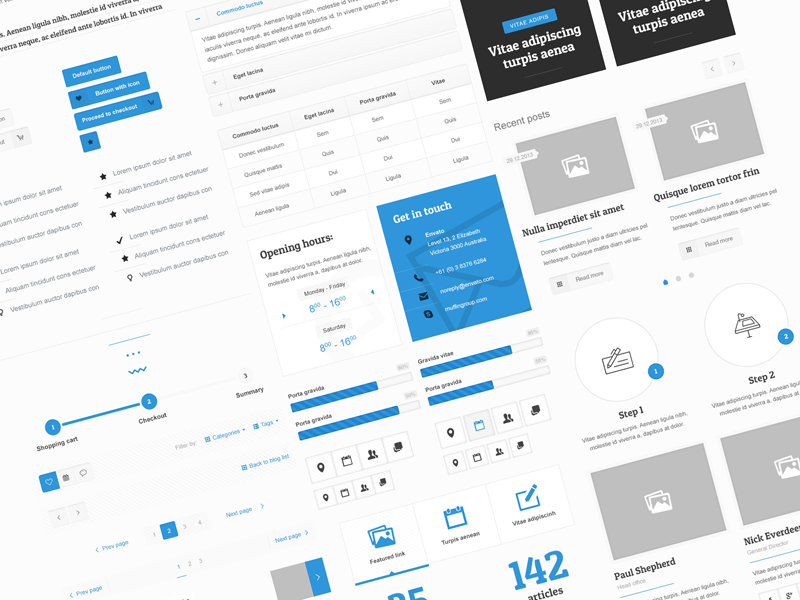 BeTheme Free UI Kit by muffingroup in 30+ Free UI Kits for Web Designers