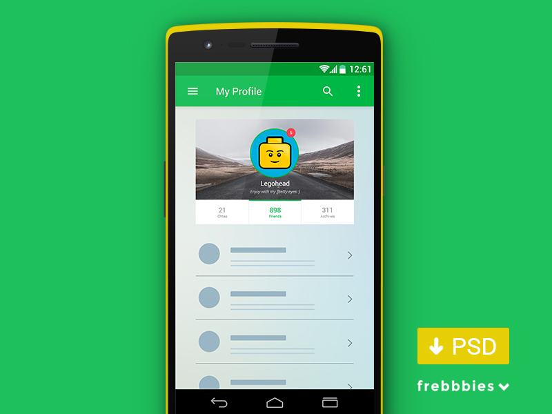 Android L psd kit by frebbbies in 30+ Free UI Kits for Web Designers