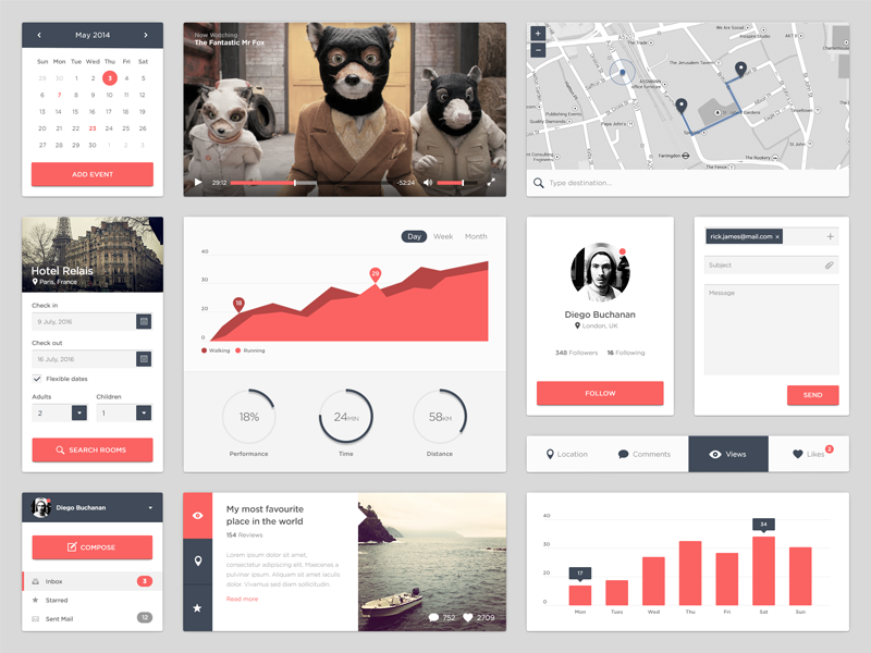 Ui Kit by David Minty in 30+ Free UI Kits for Web Designers