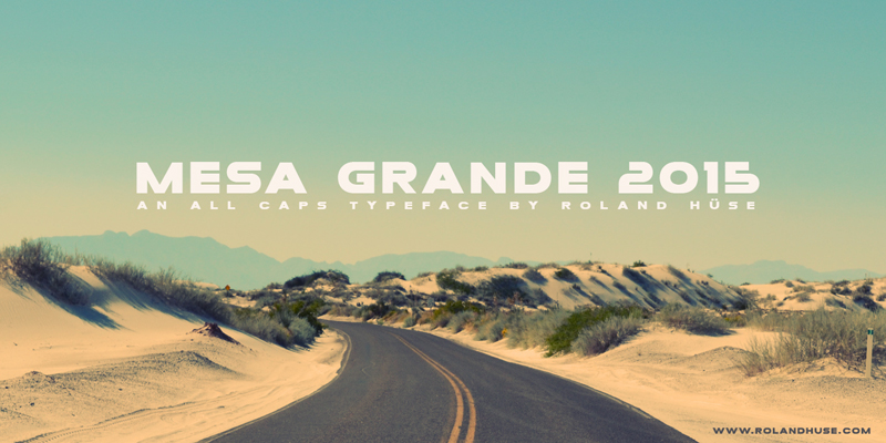 Mesa Grande Free Font by Runes & Fonts in 25 Fresh and Free Fonts for July 2014