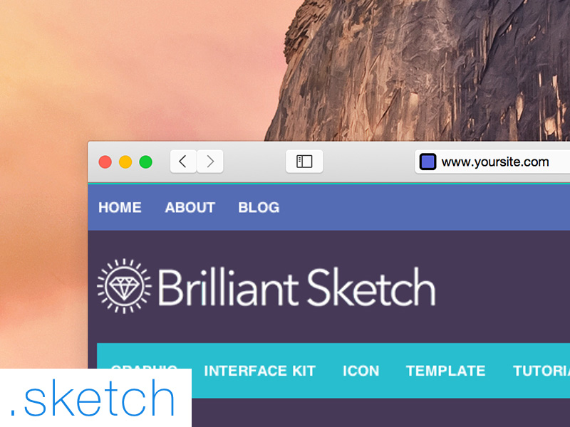 Safari OS X Yosemite .Sketch File by Kuswanto in 30+ Free UI Kits for Web Designers