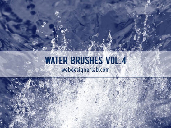 high resolution water brushes 550x412 Awesome New Photoshop Brushes for Photo Manipulation   Vol.1