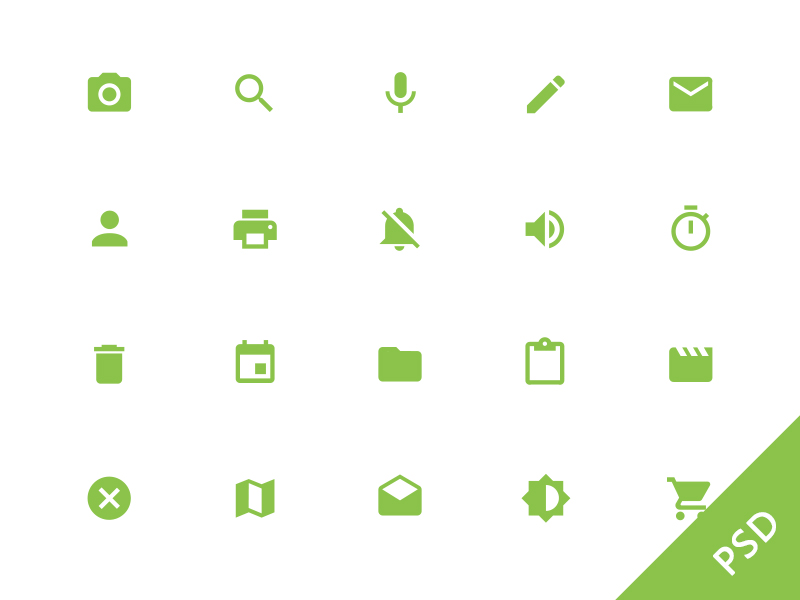 Android L System Icons by Given in 38 Fresh and Modern Icon Sets
