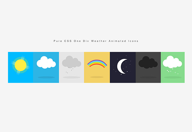 css-weather-icons-animated