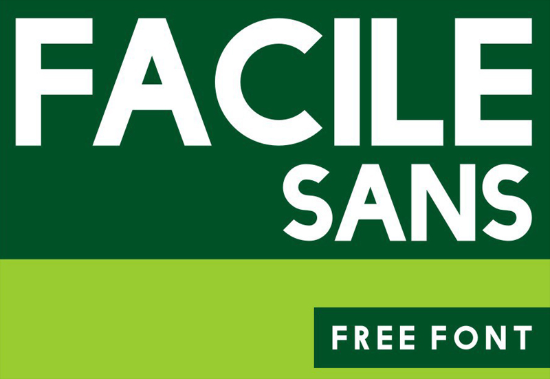 Facile Sans Free Font by Twicolabs Design in 20套2014年7月最新鲜又免费的字体下载