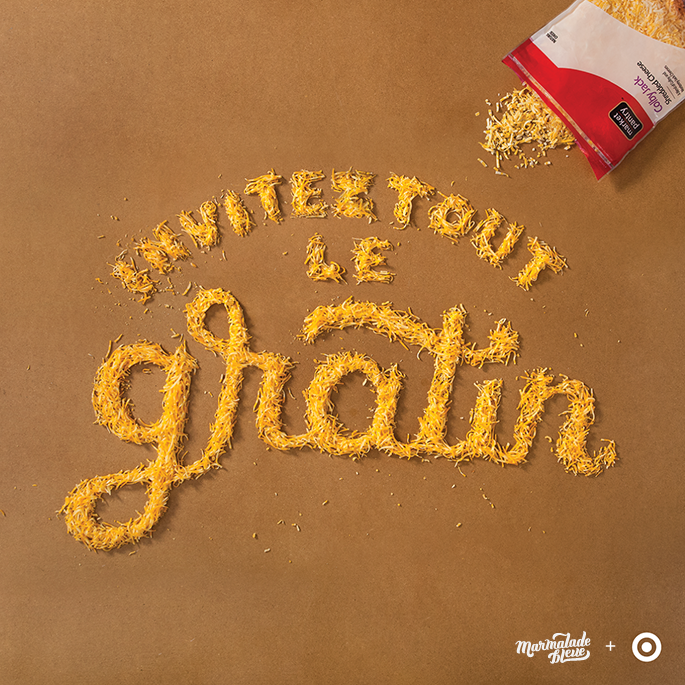 Food for Thought Social Media Campaign by Danielle Evans in 60+ Examples of Creative Typography