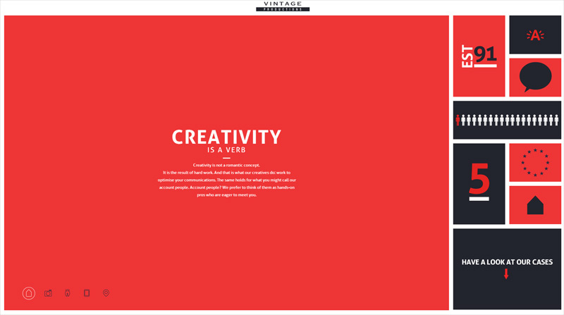 Vintage Productions in Web Design Inspirational Cocktail #92