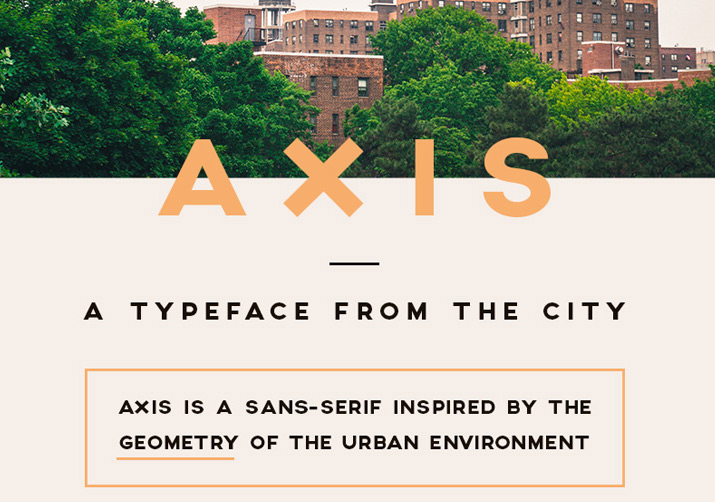 AXIS Free Typeface by Jean M. Wojciechowski in 25 Fresh and Free Fonts for July 2014