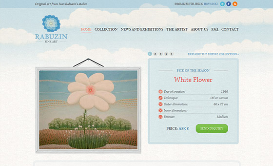 - Fine Art Website Design with Sky Texture