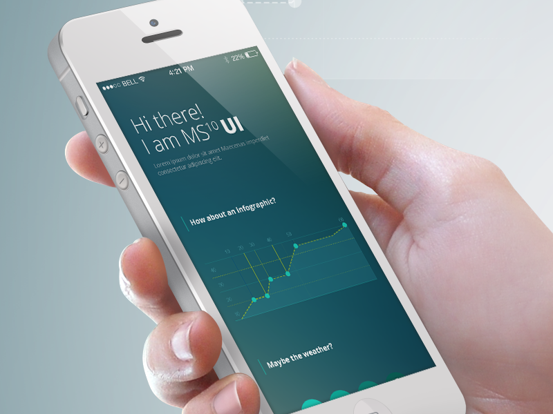 Planner & Meteo UI Kit for iPhone by Graphics Bay Team in 30+ Free UI Kits for Web Designers