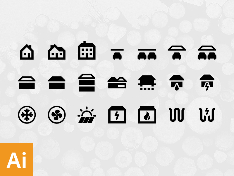 House structure free icons by Michal Kulesza in 38 Fresh and Modern Icon Sets