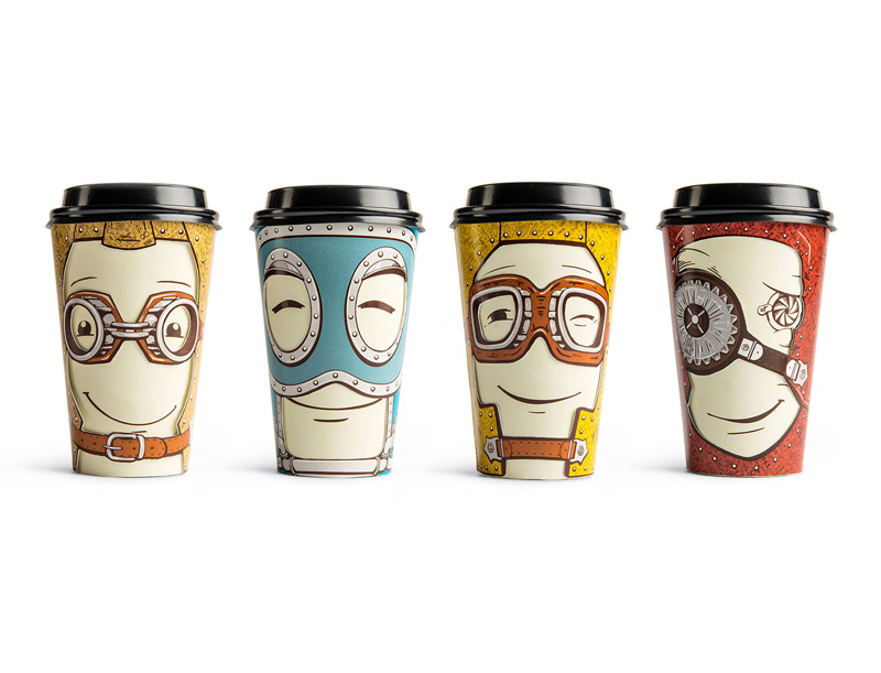 Take Away Coffee Cup by Backbone Branding in2014年8月最新的包装设计灵感欣赏