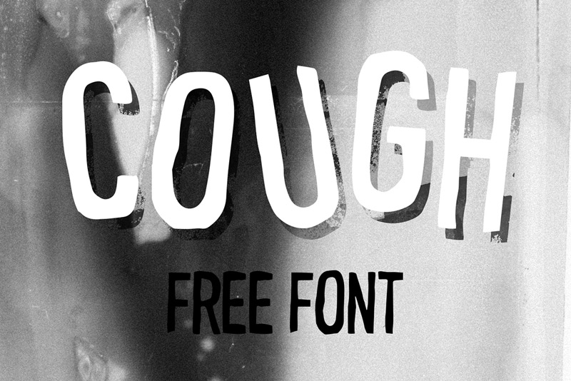 COUGH Free Font by Le Svelte in20个2014年8月出炉的免费又新鲜的字体套装下载