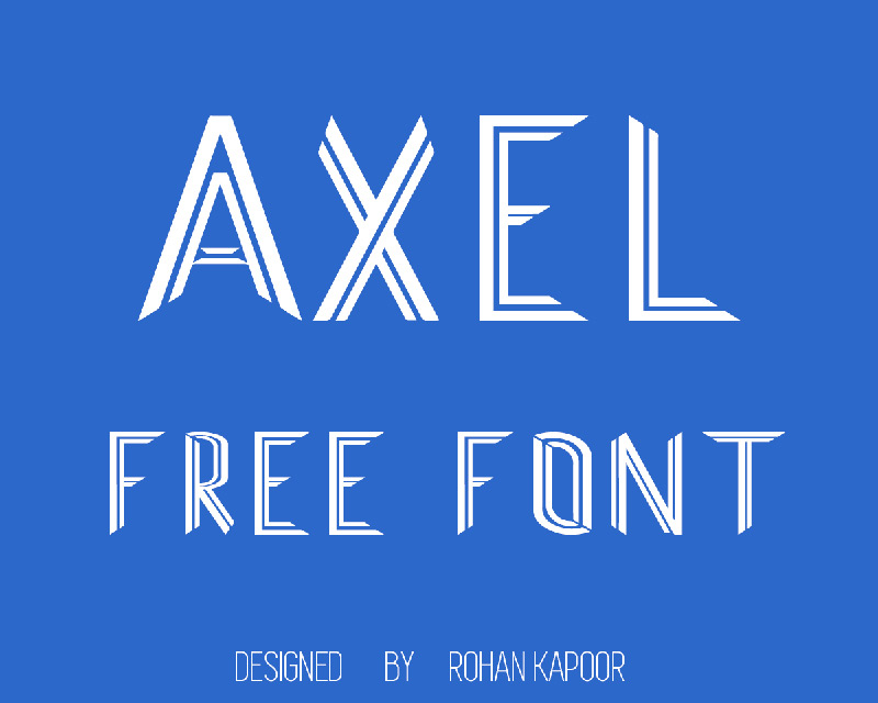 AXEL Free Font by Rohan Kapoor in20个2014年8月出炉的免费又新鲜的字体套装下载