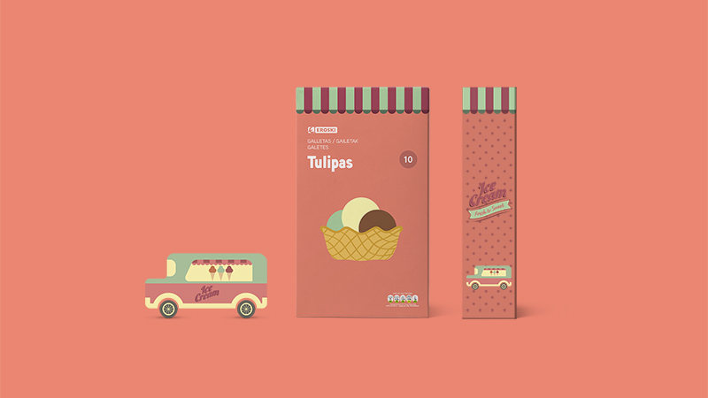 Eroski Ice Cream Wafers by Supperstudio in2014年8月最新的包装设计灵感欣赏