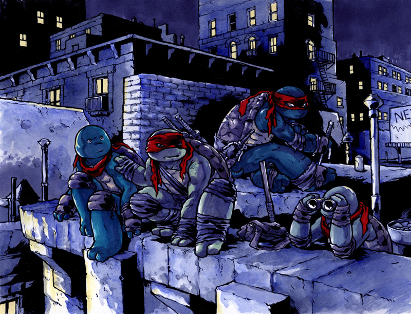 TMNT by mooncalfe in 忍者神龟插画艺术品展示