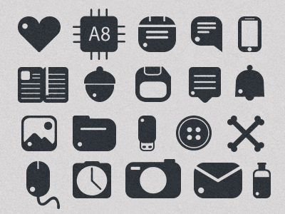 Rounded Icons Free by Mohammed Omidvar in 30个给网页设计师准备的扁平化图标套装免费下载