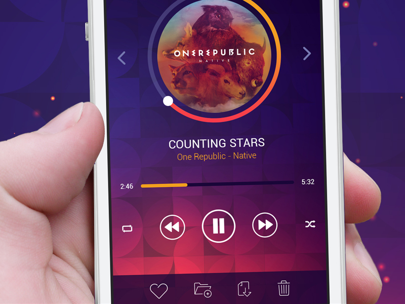 Crown | Music Player by Pix3lize in 36个移动APP界面设计灵感欣赏(IOS8风格)