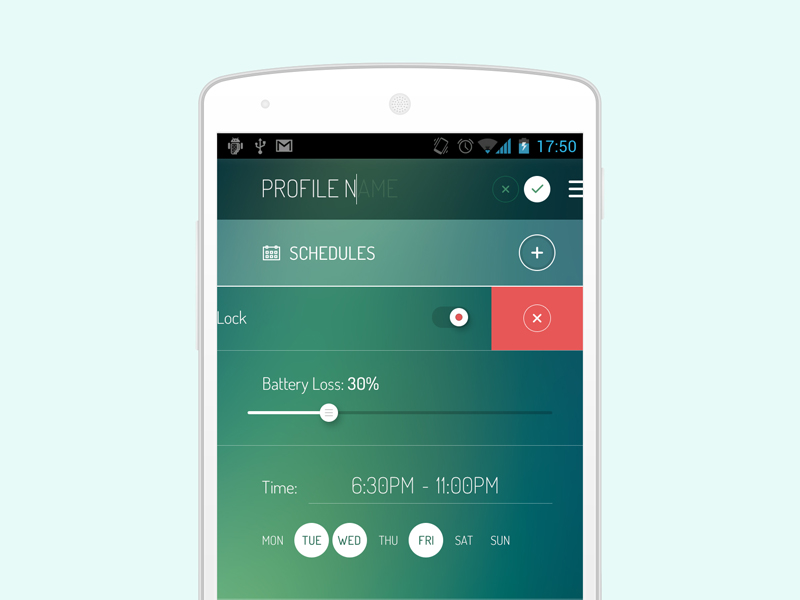 Android Settings Screen by Fuxxo Works in 50个精彩的8月出炉的免费设计资源