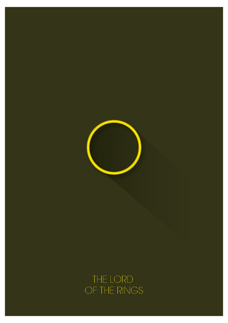 Minimalist movie posters by Cristhian Arboleda in 极简主义电影海报设计意境欣赏(三) #9