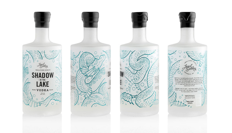 Legend Distilling Handmade Gin & Vodka by Also Known As: Design Studio in2014年8月最新的包装设计灵感欣赏