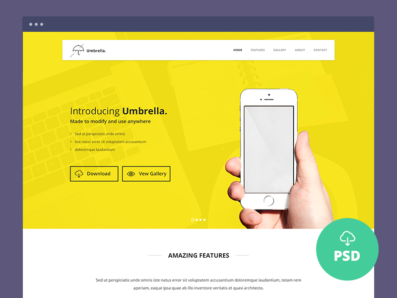 Ultimate App Landing Page PSD Template by themecurve in 50个精彩的8月出炉的免费设计资源