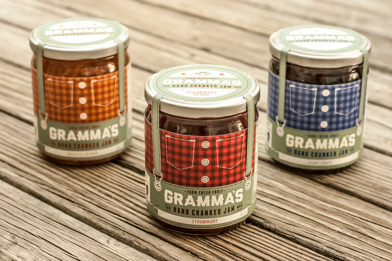 Gramma's Hand Cranked Jam by Ben Loht in2014年8月最新的包装设计灵感欣赏