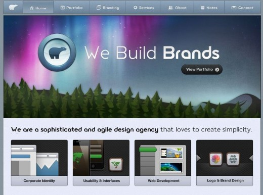 Studio 7 Designs Web & Mobile Logo Developer Layout