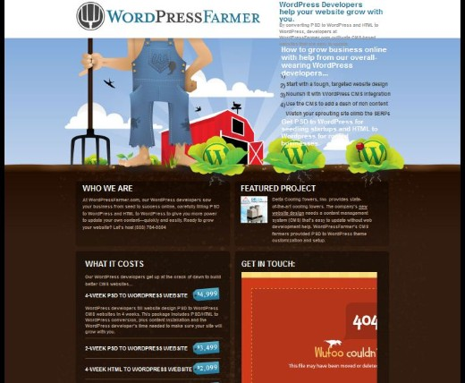 Wordpress Farmer Web Developer Layout