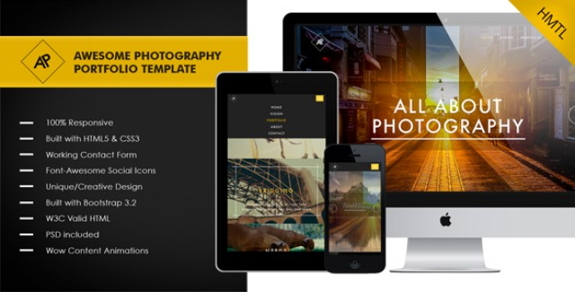 Awesome - Photography_Portfolio Template