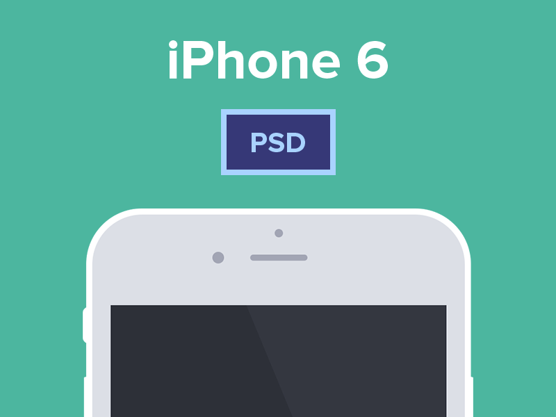 iPhone 6 & 6 Plus Free PSD Mockup by Panagiotis Efthymiou in 35个新鲜的iPhone6展示模型PSD下载