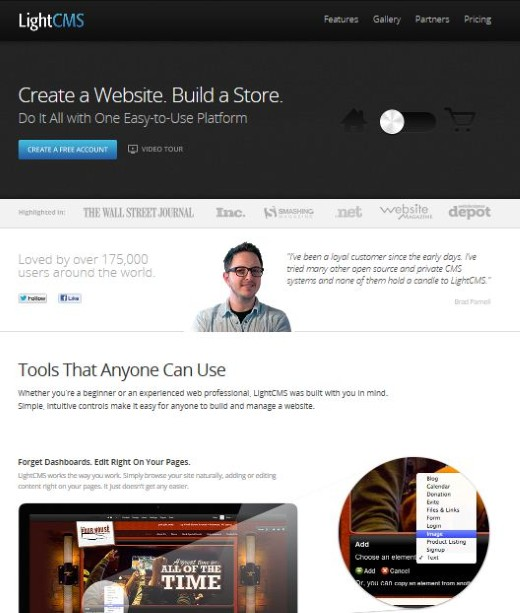 Lightcms Web Design Creator Layout