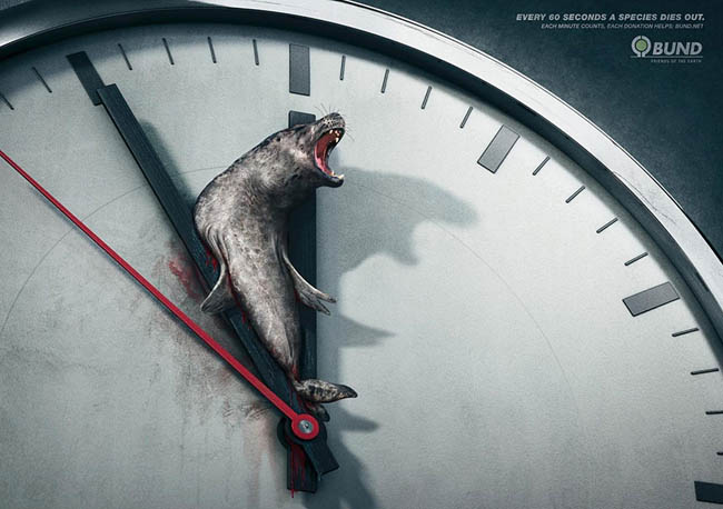 Social Issue Ads - Every 60 Seconds a Species Dies Out. Each Minute Counts