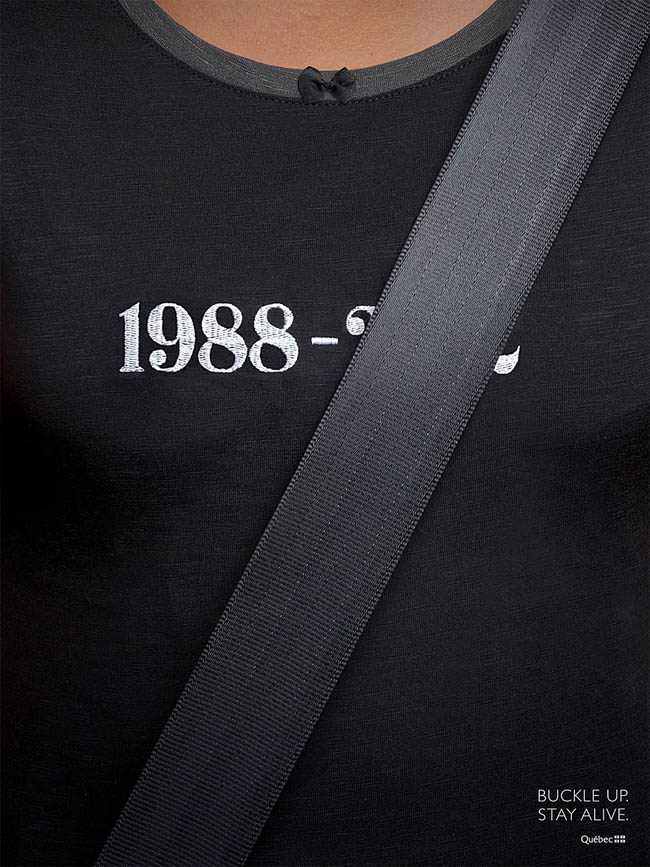 Social Issue Ads - Buckle up. Stay alive