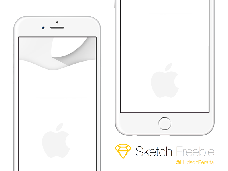 iPhone 6 & 6 Plus .sketch Freebie by Hudson-Peralta in 35个新鲜的iPhone6展示模型PSD下载