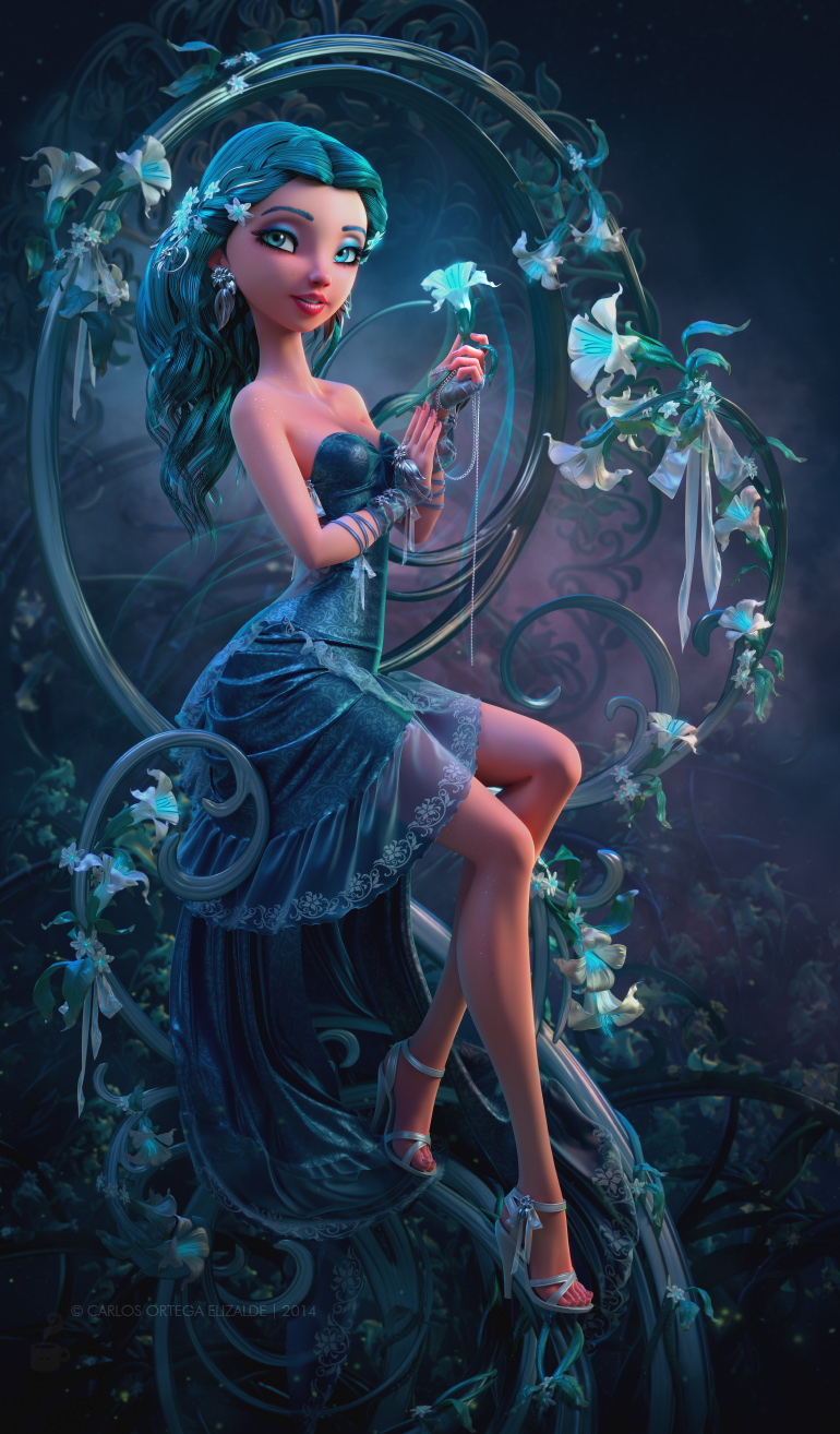 Stamens of Light by Carlos Ortega Elizalde in 2014年9月的35个漂亮的CG女孩