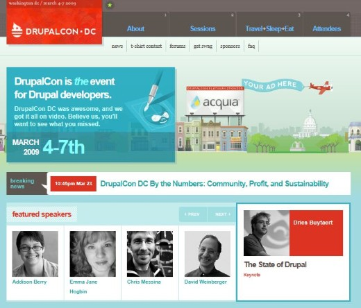 Drupalcon Web Drupal Developers Layout