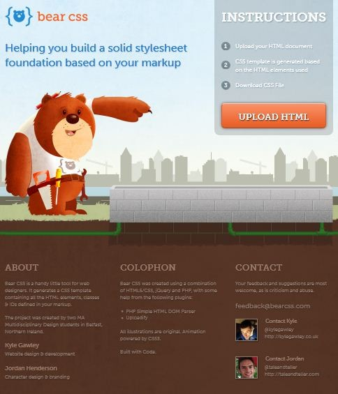 Bear CSS – Helping You Build A Solid Stylesheet Foundation Based On Your Markup