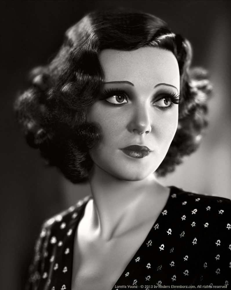 Loretta Young by Anders Ehrenborg in 2014年9月的35个漂亮的CG女孩